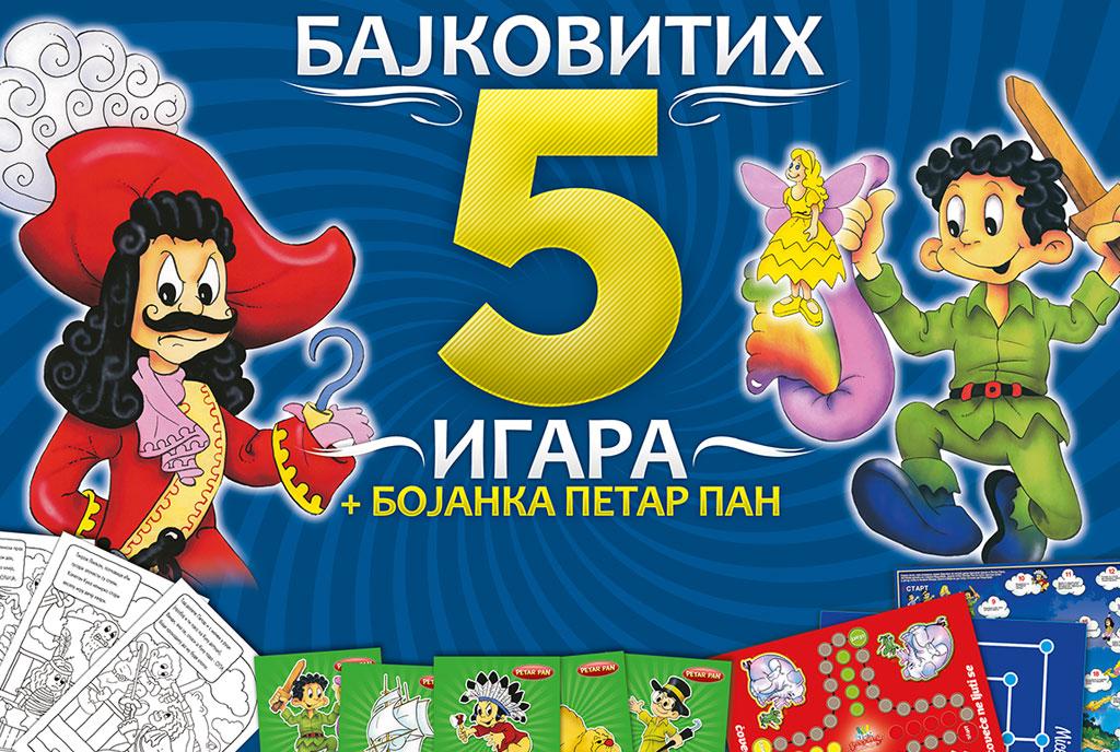 Bajkovitih 5 igara + bojanka Petar Pan